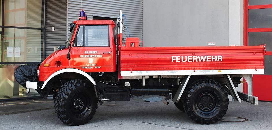 RÜST Mercedes Unimog Allrad mit Seilwinde Baujahr 1976, Umbau 2008